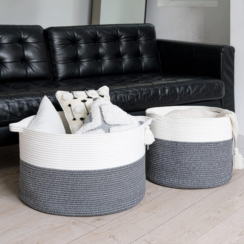 Large price Linen Basket Set of Outlet SALE 2 Laundry Hamper -Woven Clothe