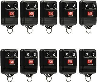 Car Key Fob Keyless Entry Remote fits Ford, Lincoln, Mercury, Mazda (CWTWB1U331 GQ43VT11T CWTWB1U345 3-btn), Bulk Lot of 10