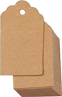 100 pezzi Targhette in carta kraft 7x4cm Targhette da regalo nere Festivit/à Matrimonio Compleanno Etichetta smerlata Biglietto da visita in bianco
