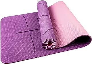 comprar comparacion Oudort Esterilla Yoga Antideslizante, Yoga Mat de Material Ecológico TPE y 6mm de Grosor con Sistema de Línea y Correa de ...