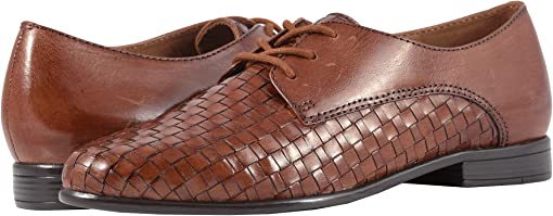 Cognac Woven/Smooth Leather
