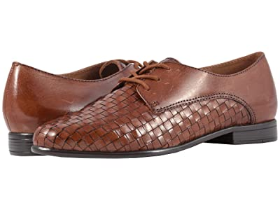 Trotters Lizzie (Cognac Woven/Smooth Leather) Women