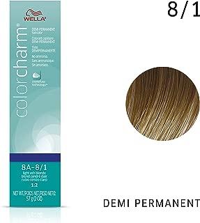 Wella Light Ash Blonde Demi Permanent Hair Color 8A-8/1 Light Ash Blonde, 2 oz