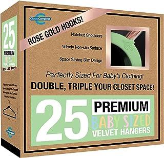 Closet Complete BabyVelvet Hangers, Premium Quality, True-Heavyweight Virtually-UNBREAKABLE, Ultra-Thin Space Saving No-S...