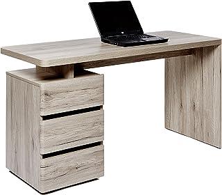 Movian Skadar - Bureau à 3 tiroirs, 140x55x76cm, Finition chêne Sanremo