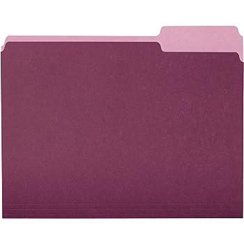 AmazonBasics File Folders, Letter Size, 1/3 Cut Tab, Burgundy, 36-Pack