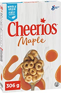 Cheerios Maple Cereal, 306g/10.8oz Box, (Imported from Canada)