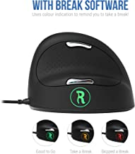 R-Go Tools Break Wired Vertical Ergo Mouse, Large, Right Hand Black
