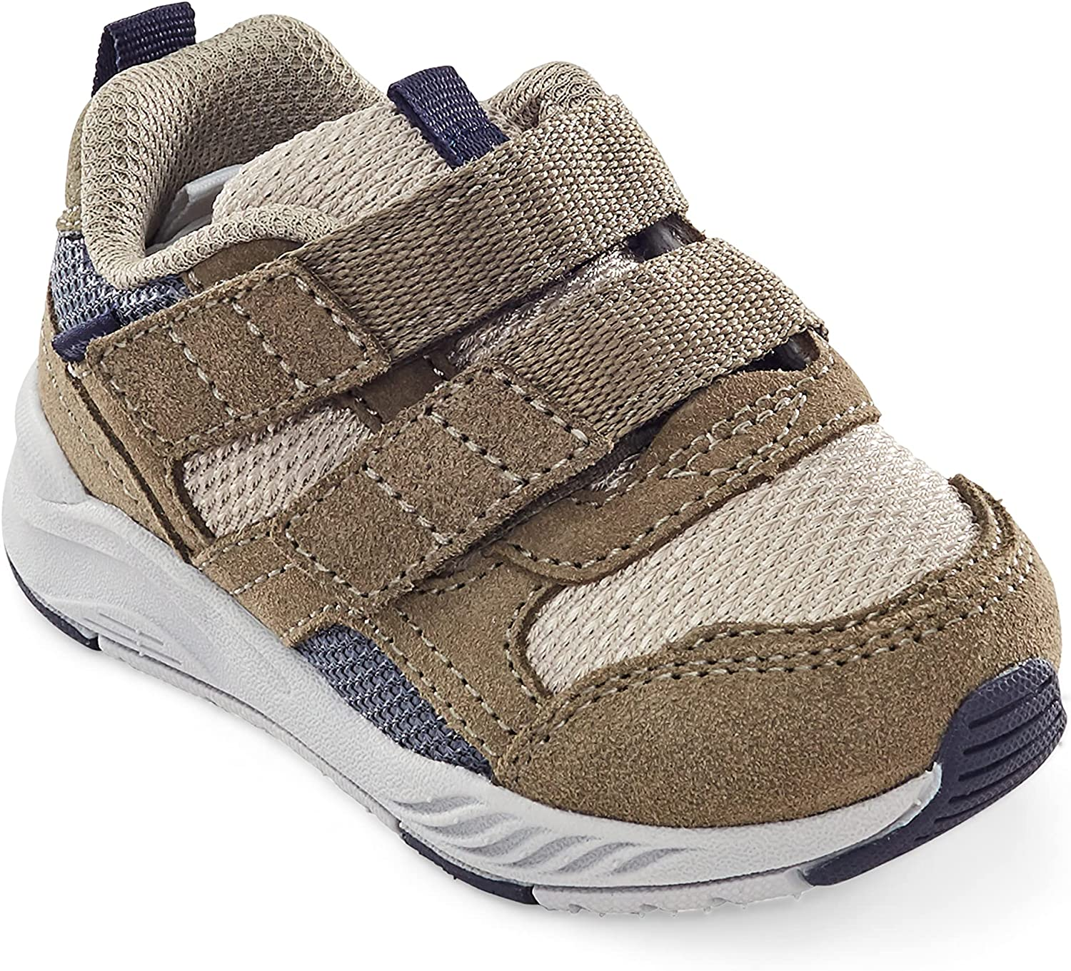 Stride Rite Boy's Made2Play Brighton Athletic Sneaker, Taupe, 9 X-Wide Toddler