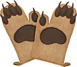 Bear Oven Mitts Set for Baking Set of 2,Funny and Cute Kitchen Mittens,Cooking Oven Gloves Silicone Heat Resistant 500°F b...