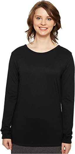Four-Way Reversible Scoop Long Sleeve Jersey Top
