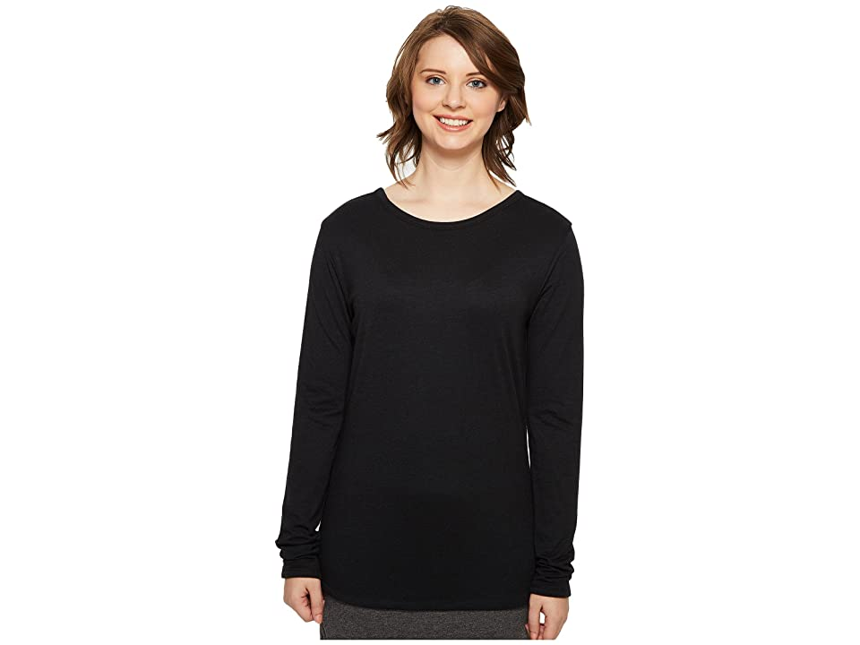 Image of 4Ward Clothing Four-Way Reversible Scoop Long Sleeve Jersey Top (Black/Black) Girl's Clothing