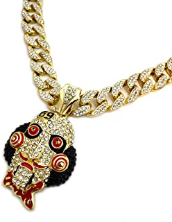 BLINGFACTORY Hip Hop Saw Inspired Pendant & 15mm 18