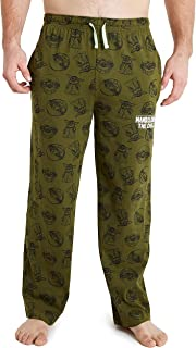 Disney The Mandalorian Pyjamas Bottoms for Men, Baby Yoda Mens Lounge Pants, 100% Cotton, Small to 3XL, Gifts for Men