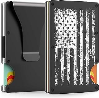 Metal Wallet for Men - Minimalist Wallets for Men - Money Clip Wallets for Men - Men's Wallet - Slim Wallet for Men - Mens Wallet - Card Holder Wallet