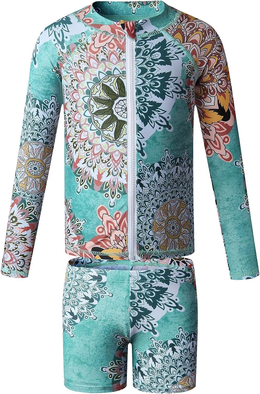 Brand Cheap Sale Venue Caracilia Girls' 2-Piece Rashguard Set Sun Latest item UV Long Protection Sl