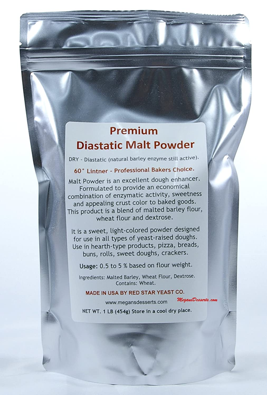 Diastatic Malt Powder 16 oz. - 1lb Bag OFFicial site Star Fashionable Red Made by Yeast