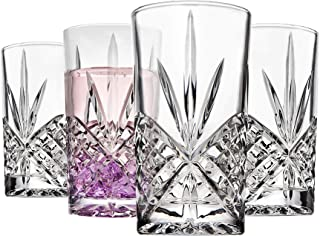 Godinger Tall Highball Glasses, Shatterproof and Reusable Acrylic - Dublin Collection, Set of 4