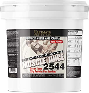Ultimate Nutrition Muscle Juice Weight and Muscle Gainer Protein Powder - Gain Weight Fast with 55g Protein 162g Carbs and...