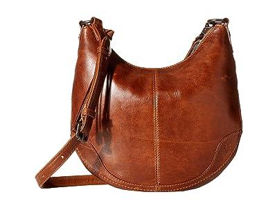 Frye Melissa Small Scooped Hobo Crossbody (Cognac) Handbags