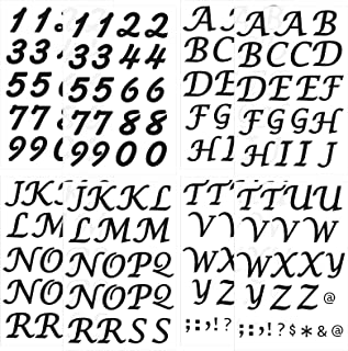 8 Sheets Iron-on PU Letter Number Set Include 6 Sheets 1.5 Inch Tall Heat Transfer Alphabets Letters and 2 Sheets 1.5 Inch...
