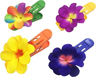 P&F HIGH QUALITY PRODUCTS (Set of 4) Beach Towel Tropical and Colorful Plumeria Clips Jumbo Size (5 inches) for Beach Chair or Pool Loungers on Your Cruise