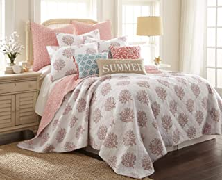 Levtex home Coral Breeze Quilt, Twin, White