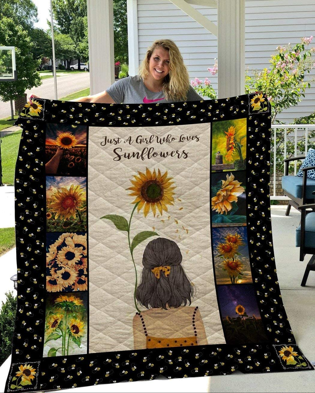 Personalized Sunflowers Quilt Just Recommendation A Girl Da Valentine's Phoenix Mall