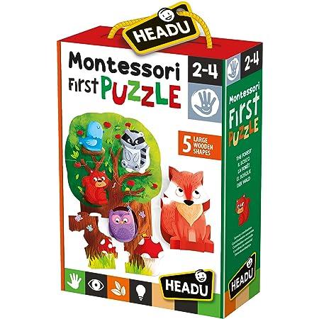 Multiple Colour Headu IT22243 Puzzle 8+1 Dinosaurs Educational Game Prehistoric Animals