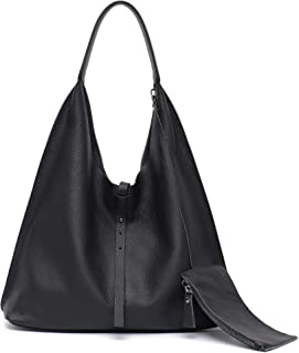 large black leather slouch bag
