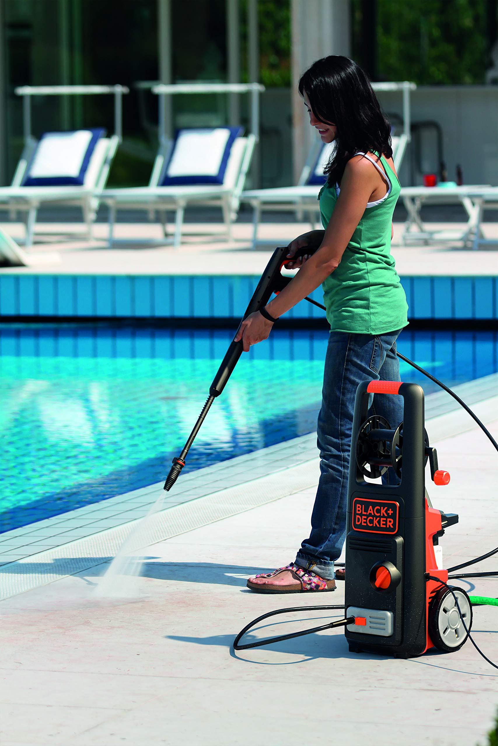 Black+Decker 1800W 135 Bar Pressure Washer Cleaner for Home, Garden and Vehicles, Black/Orange - BXPW1800E-B5, 2 Years Warranty