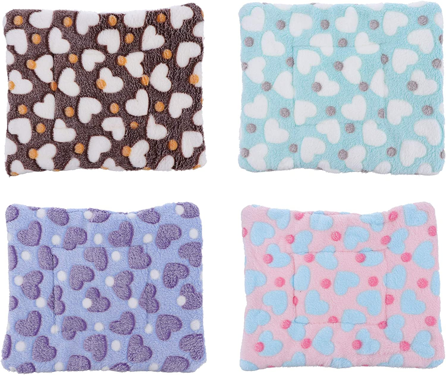 TEHAUX 4pcs Guinea Pig Bed Small P Soft Selling and selling Fleece Animals Sleep Mat Daily bargain sale