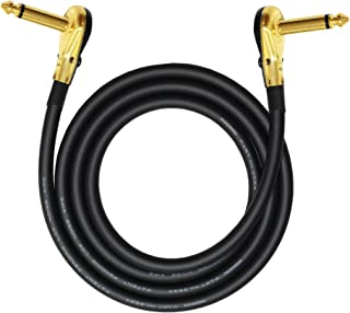 4 Foot-Pedal, Effects, Patch, instrument cable CUSTOM MADE By WORLDS BEST CABLES – made using Mogami 2524 wire and Eminence Gold Plated ¼ inch (6.35mm) R/A Pancake type Connectors