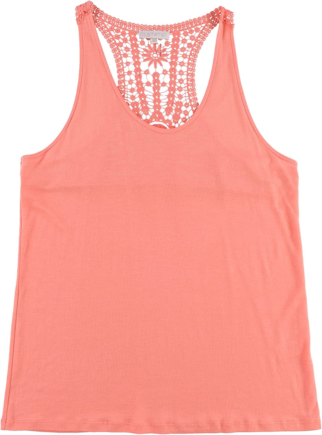 1.State Womens Lace Knit Blouse