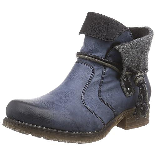 604e49311767 RIEKER Womens Stiefel, Winterstiefel, blau, 961420-5
