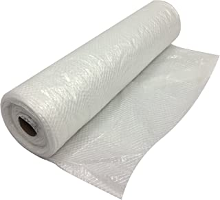 TheSafetyHouse Plastic String Reinforced Poly Sheeting 20 Feet X 100 Feet, 6 Mil Nominal, Transparent/White, Durable, Top Quality Visqueen