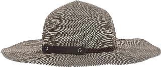 Sunlily Roll-N-Go - Sombrero para el sol, color negro y café, Negro/Bronceado, Talla unica