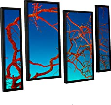 Scott Campbell's Horrors, 4 Piece Floater Framed canvas Staggered Set 24x36