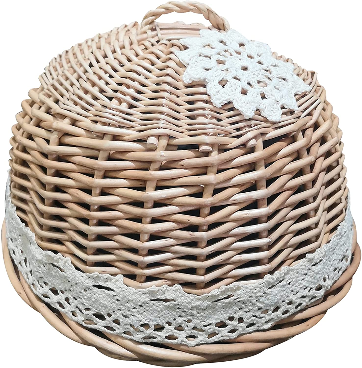 NewFerU Wicker Ranking TOP20 Rattan Woven Food Dome for 1 Lid Anti Cover Classic Flies