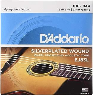 D'Addario EJ83L Gypsy Jazz Acoustic Guitar Strings, Ball End, Light, 10-44