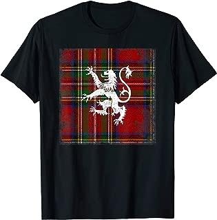 Scottish Tartan Shirt Red Plaid Lion Royal Stewart Clan