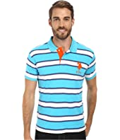 U.S. POLO ASSN. - Slim Fit Striped Interlock Polo