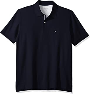 Nautica mens Classic Fit Short Sleeve Solid Performance Deck Polo Shirt Polo Shirt