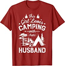 This Girl Loves Camping With Her Husband T shirt Camper Wife
