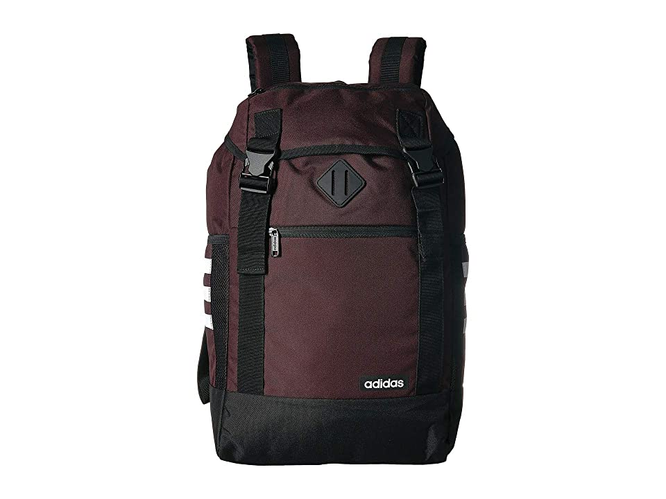 adidas Midvale II Backpack (Night Red/Black/White) Backpack Bags