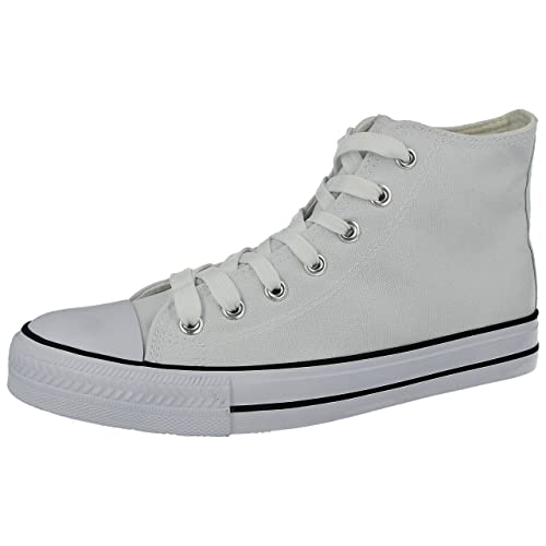 548371c66f63d6 Ladies Baltimore Academy Low Hi Top Canvas Toe Cap Lace up Pumps Plimsoll  All Star