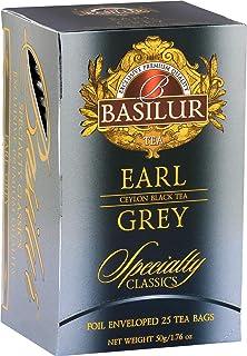 Basilur Earl Gray Tea | Flavored Tea | 100% Pure Ceylon | 25 Envelops