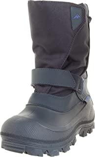 Tundra Unisex Child Quebec, Watter Resistant Winter Boots, Navy, 2 M US Little Kid