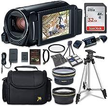 دوربین فیلمبرداری Canon VIXIA HF R800 با کارت حافظه Sandisk 32 GB SD 2.2x لنز تله فوتو 0.42x لنز Wideangle بسته لوازم جانبی اضافی