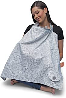 Boppy Nursing Cover, Boho Gray, fashionable nursing cover for breastfeeding